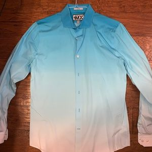 Limited Edition Blue Ombre Button Down (Express M)